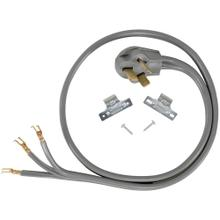 3-Wire Open-End-Connector 50-Amp Range Cord, 4ft