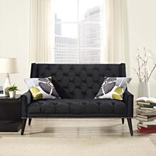 Peruse Performance Velvet Loveseat in Black