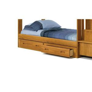 Woodcrest - Heartland Full Promo Bed with options: Honey Pine, Full, 2 Drawer Storage