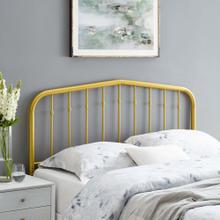 Lennon King Metal Headboard in Gold