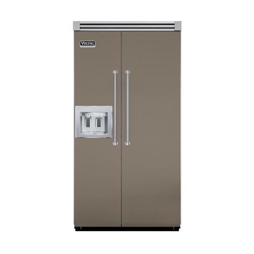"""Viking - Stone Gray 42"""" Quiet Cool™ Side-by-Side with Dispenser - VISB Tru-Flush™ (42"""" wide)"""