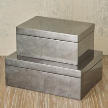Gunmetal Silver Leaf Box-Lg