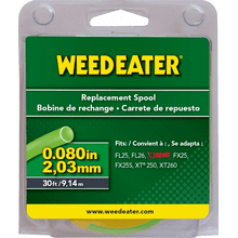 "Weed Eater Trimmer Heads & Spools .080"" x 30' Replacement Spool"