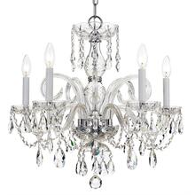 Traditional Crystal 5 Light Sw arovski Strass Crystal Chrome Chandelier