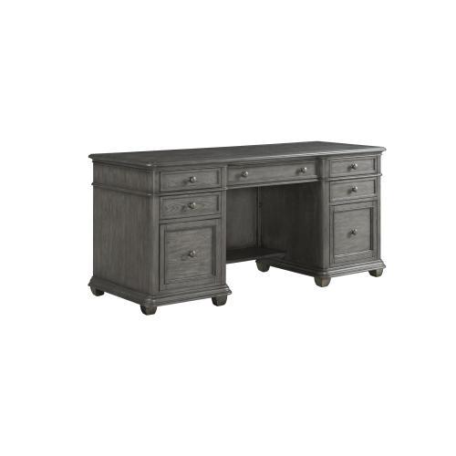 Credenza Desk - Gray Wash Finish