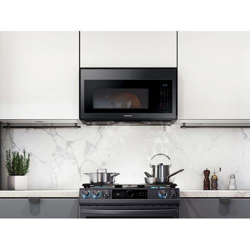 1.7 cu ft. Smart Over-the-Range Microwave with Convection & Slim Fry™ in Black Stainless Steel