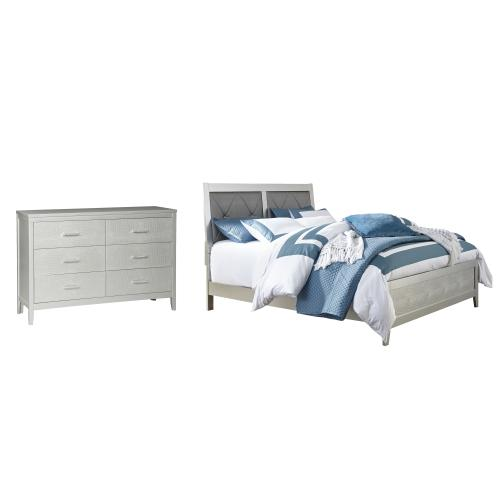 Ashley - Queen Panel Bed With Dresser