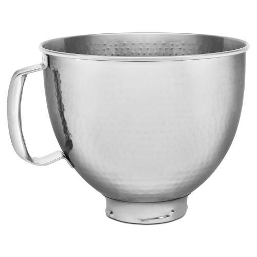 KitchenAid® 5 Quart Tilt Head Hammered Stainless Steel Bowl - Heritage Stainless Steel