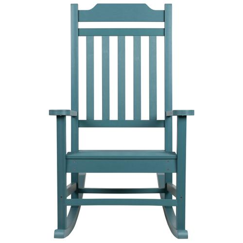 Flash Furniture - Winston All-Weather Poly Resin Rocking Chair in Teal