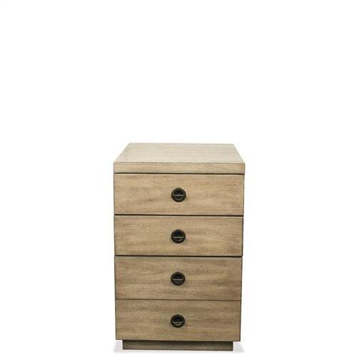 Perspectives - Mobile File Cabinet - Sun-drenched Acacia Finish
