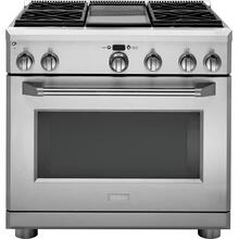 "Monogram 36"" Dual-Fuel Professional Range with 4 Burners and Griddle (Natural Gas)- Open Box"