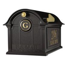 See Details - Balmoral Mailbox Side Plaques and Monogram Package - Black