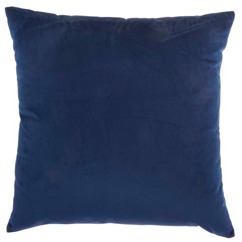 """Inspire Me! Home Decor Bj109 Navy 18"""" X 18"""" Throw Pillow"""