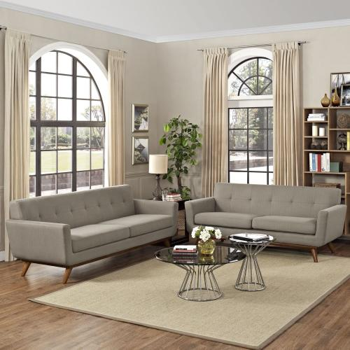 Engage Loveseat and Sofa Set of 2 in Granite