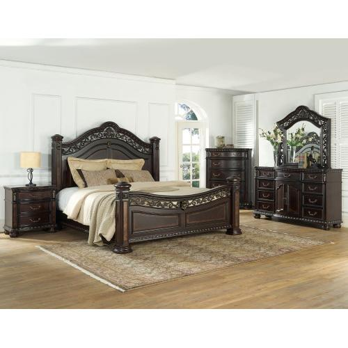 Monte Carlo Queen 4-Piece Set(Queen Bed/DR/MR/NS)