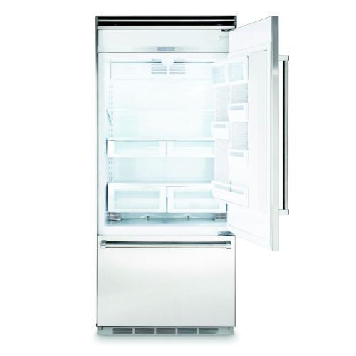 "Viking - 36"" Bottom-Freezer Refrigerator, Left Hinge/Right Handle"
