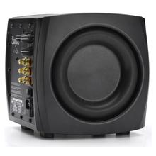 """View Product - Atmos - Dual 6.5"""" 1400w Tracking Down Converter Powered Sub Auto EQ - Brushed Aluminum Cab"""