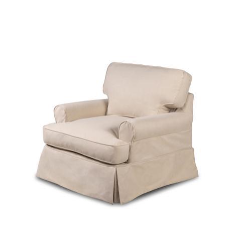Horizon Slipcovered T-Cushion Chair - Color: 391084