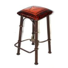 Cowboy Bar Stool w/Leather Seat