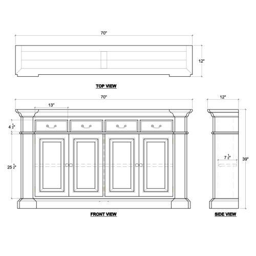Roosevelt 4 Door 4 Drawer Sideboard