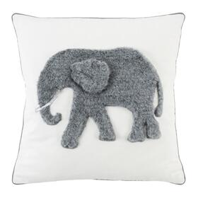 Snuffles Pillow - White / Grey