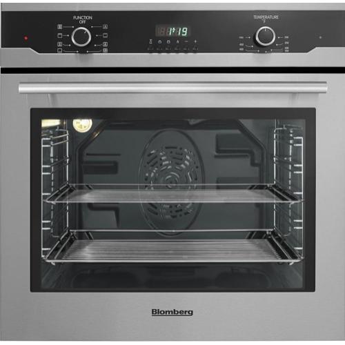 "Blomberg Appliances - 24"" Built in Wall Oven Single, stainless, full glass door moon design"