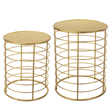 See Details - Gold Faux Bamboo Base Nested Table (2 pc. set)