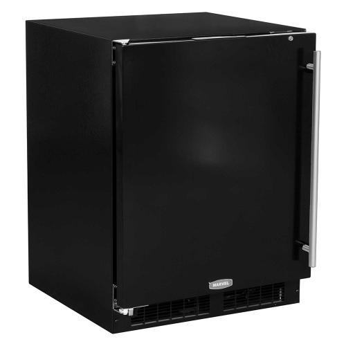 Marvel - 24-In Low Profile Built-In All Refrigerator With Maxstore Bin with Door Style - Black, Door Swing - Left