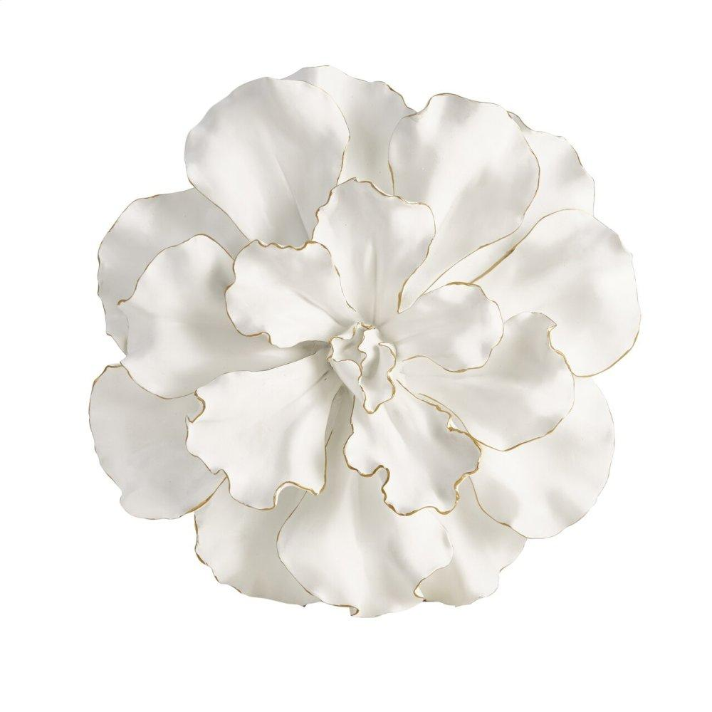 """See Details - White/gold Wall Flower 20"""""""