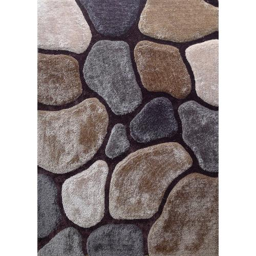 Rock Shag Area Rug by Rug Factory Plus - 5' x 7' / Steel
