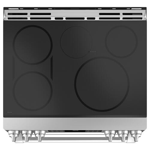 """GE Cafe - GE Cafe™ Series 30"""" Slide-In Front Control Induction and Convection Double Oven Range"""
