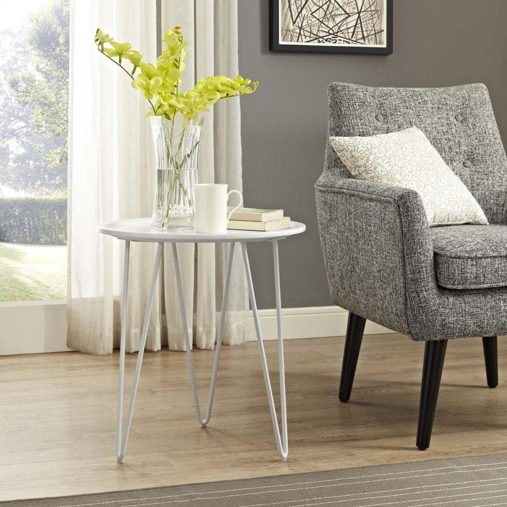Digress Side Table in White