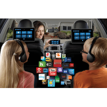 """Dual 10.1"""" Seat-Back Entertainment System Dual Android, Single DVD, HDMI, SD, USB, and Touch Screen Interface"""