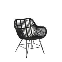 6716412 - Chair 85x63x80 cm MALANG rattan black