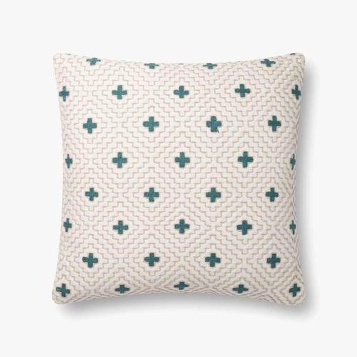 P0816 Ivory / Blue Pillow