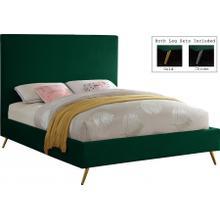 """Jasmine Velvet Bed - 81"""" W x 87.5"""" D x 52"""" H"""