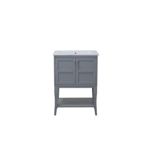 2 Doors Cabinet 24 In. X 18 In. X 34 In. In Grey