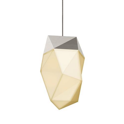 Sonneman - A Way of Light - Facets LED Pendant [Size=1-Light Medium, Color/Finish=Satin Nickel]