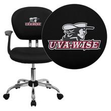 Virginia College at Wise Highland Cavaliers Embroidered Black Mesh Task Chair with Arms and Chrome Base