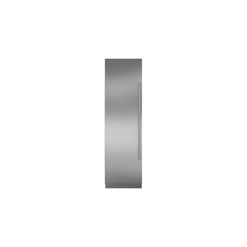 "Integrated Stainless Steel 24"" Column Door Panel with Pro Handle - Left Hinge"