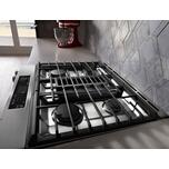 Kitchenaid 30-Inch 4-Burner Dual Fuel Downdraft Slide-In Range - Stainless Steel