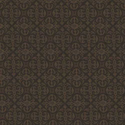 Flash Furniture - 18.5''W Church Chair in Abbey Mocha Fabric - Gold Vein Frame