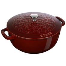 Staub Cast iron 5-qt Essential French Oven with Lilly Lid - Visual Imperfections - Grenadine