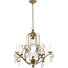 Visual Comfort CHC1420GI-SG E. F. Chapman Piedmont 6 Light 32 inch Gilded Iron Chandelier Ceiling Light in Seeded Glass