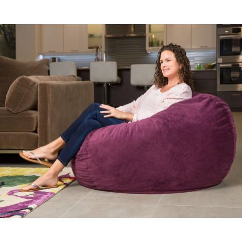 Full Chair - Plush Velour - Plum