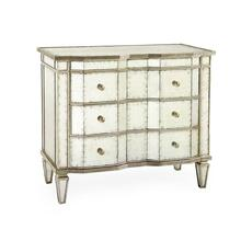Églomisé Three-Drawer Chest with Silver-Leaf Molding