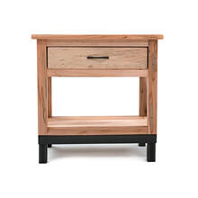 Denver 1 Drawer Nightstand - Solid Maple & Metal Legs