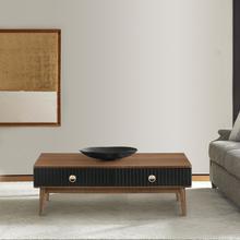 View Product - Amigo Black Veneer and Walnut Wood Coffee Table