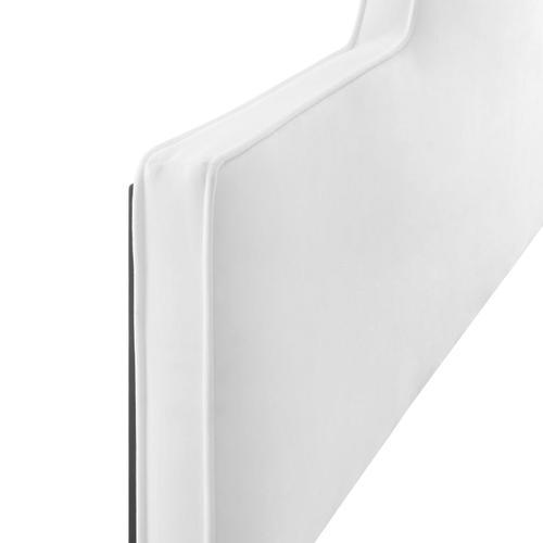 Dawn Twin Performance Velvet Headboard in White