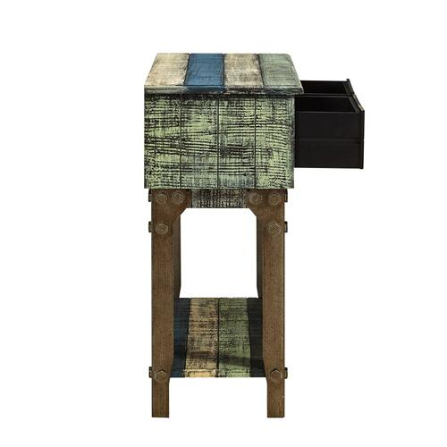 2-drawer and 1-shelf Small Hall Console, Colorful